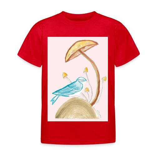 fungo con uccello - Maglietta per bambini