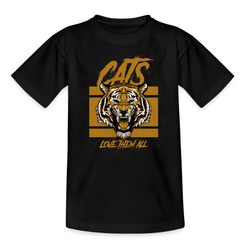 Cats, love them all - Kinderen T-shirt