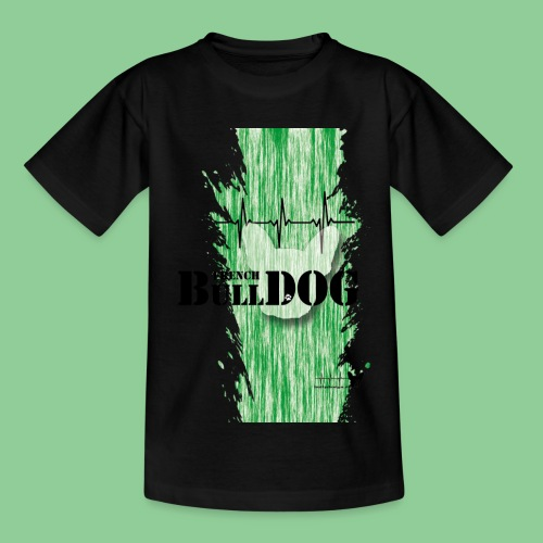French Bulldog - Kids - gruen - Kinder T-Shirt