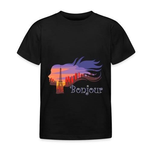 Bonjour Paris - Kinder T-Shirt