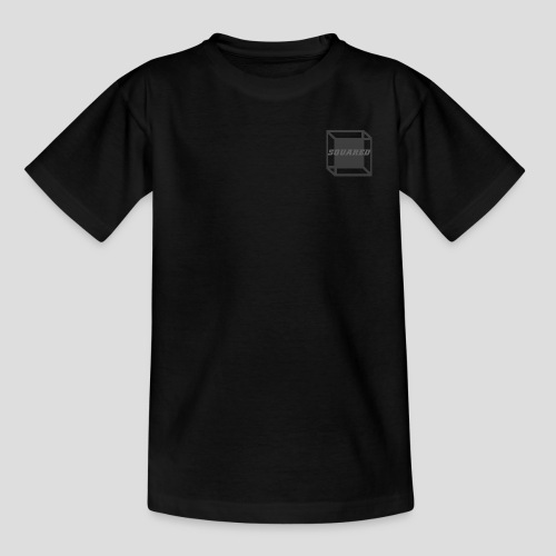 Squared Apparel Black / Gray Logo - Kids' T-Shirt