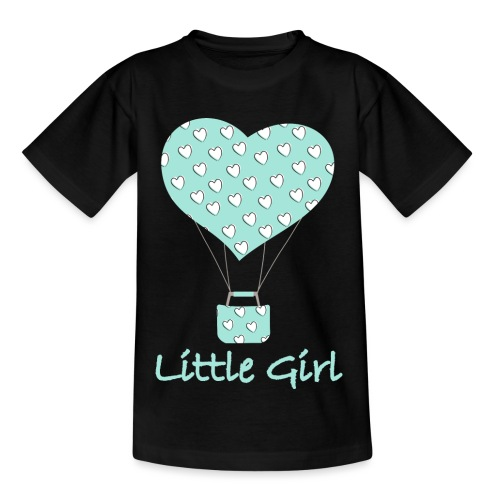 Little Girl in mongolfiera - Maglietta per bambini