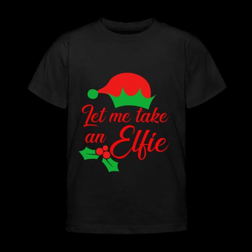 Weihnachten   Elf Mütze Weihnachtself Wortspiel - Kinder T-Shirt