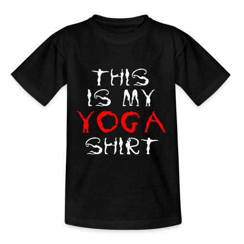 camicia yoga sport bianco spiritualità meditazione arte - Maglietta per bambini