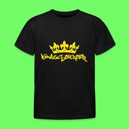 Königstochter m. Krone über der stylischen Schrift - Kinder T-Shirt