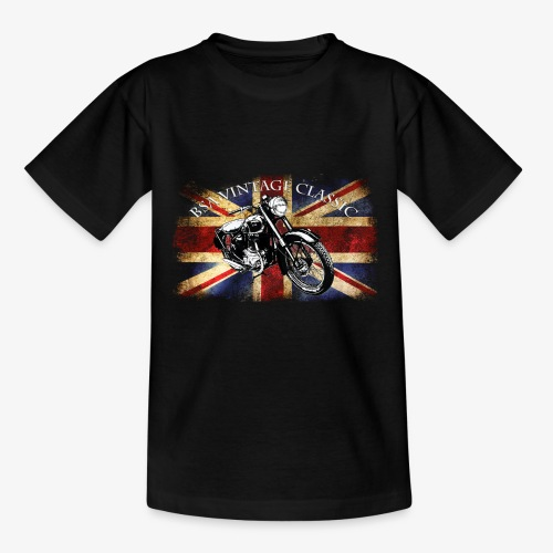 Vintage famous Brittish BSA motorcycle icon - Kids' T-Shirt