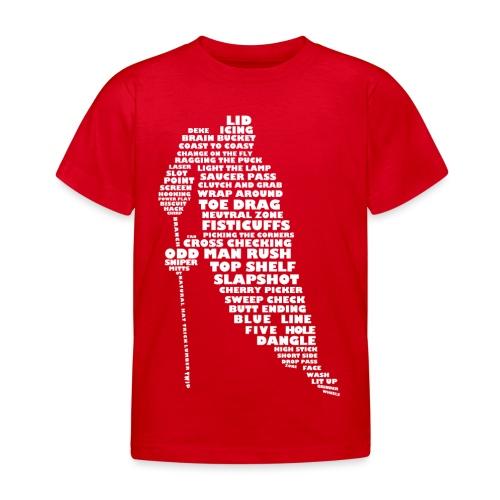Language of Hockey (White) - Kids' T-Shirt