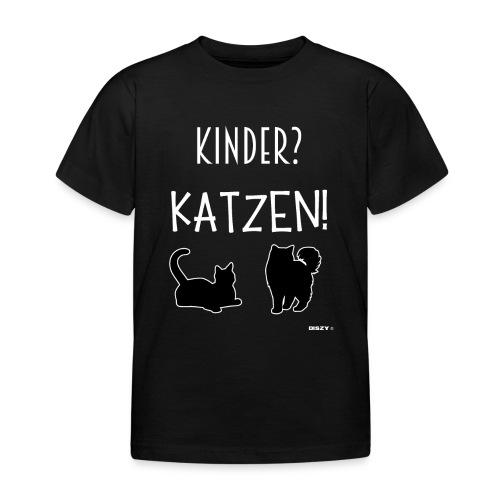 Meine Katzen sind meine Kinder Katzenliebhaber - Kinder T-Shirt