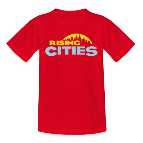 Rising Cities Logo stylized - Kinder T-Shirt