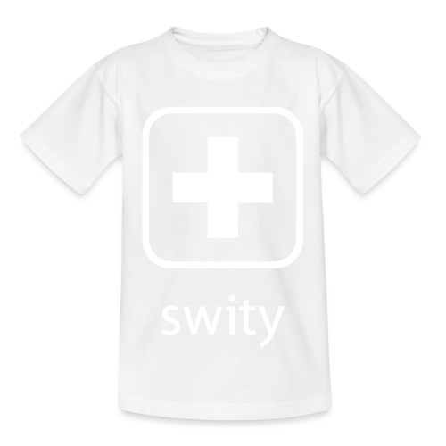 Schweizerkreuz-Kappe (swity) - Kinder T-Shirt