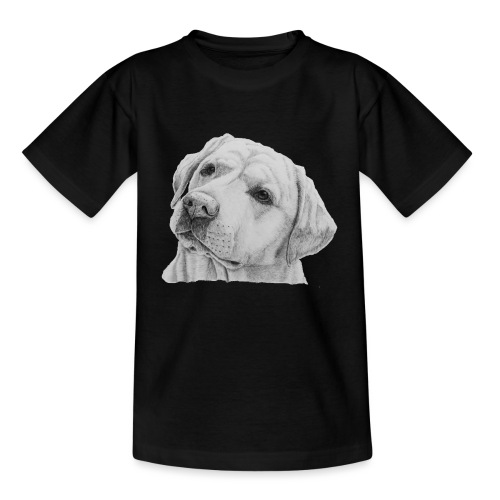 labrador retriever yellow - head - Børne-T-shirt