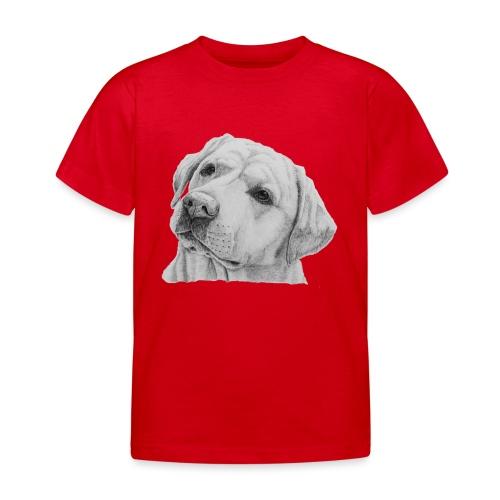 labrador retriever yellow - head - Børne-T-shirt