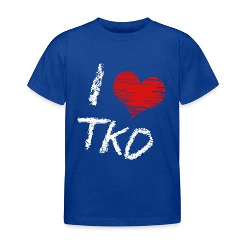 I love tkd letras blancas - Camiseta niño