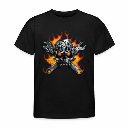 skull with crosstools - Lasten t-paita