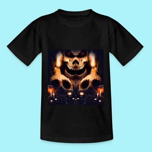 Tête de mort à la chandelle - T-shirt Enfant