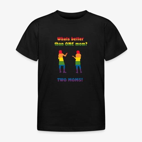 Två mammor - Pride - T-shirt barn