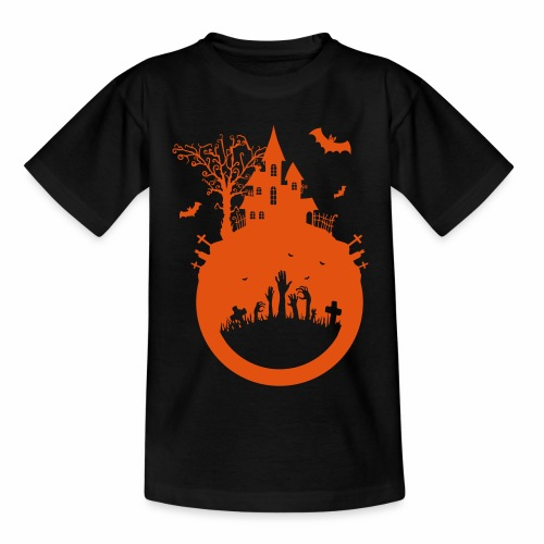 Halloween Design - Das Spukhaus - Kinder T-Shirt