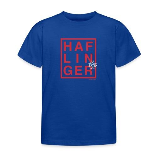 Haflinger Schriftzug / Pferd - Kinder T-Shirt