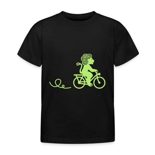 Züri-Leu beim Velofahren ohne Text - Kinder T-Shirt