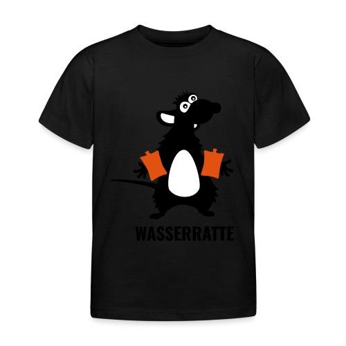 Wasserratte mit Schwimmflügeln - Kinder T-Shirt
