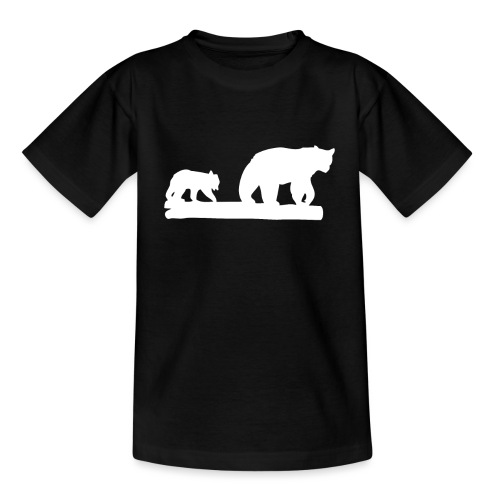 Bär Bären Grizzly Raubtier Wildnis Nordamerika - Kinder T-Shirt