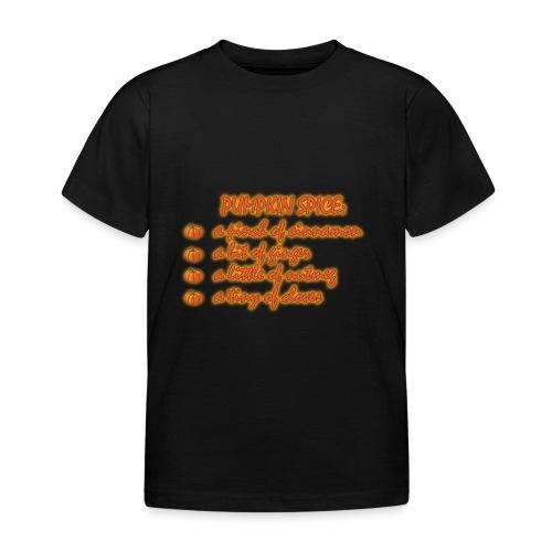 PumpkinSpiceRecipe - Maglietta per bambini