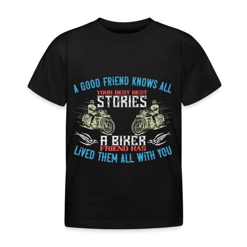 Biker stories. - Kids' T-Shirt