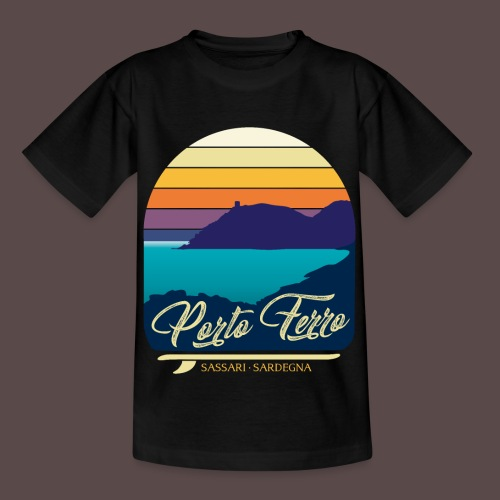 Porto Ferro - Vintage travel sunset - Maglietta per bambini