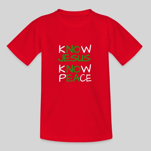 know Jesus know Peace - kenne Jesus kenne Frieden - Kinder T-Shirt