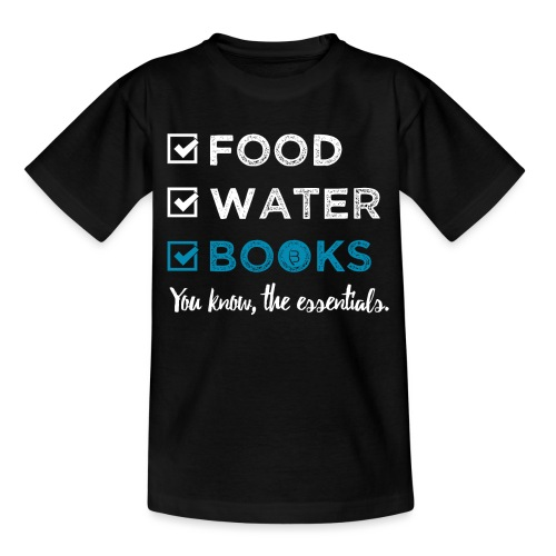 0262 Books | Reading | The important and essential - Kids' T-Shirt