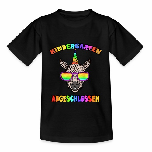 Einhorn Kindergarten Regenbogen Kinder Shirt - Kinder T-Shirt