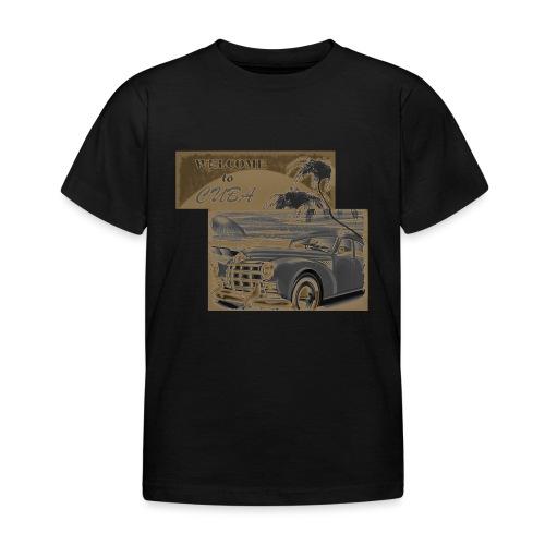 benvenuti a Cuba vecchia macchina vintage retrò - Maglietta per bambini