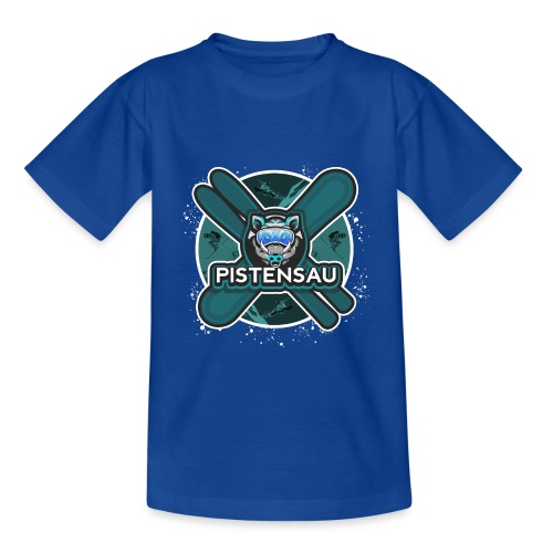 PistenSau Nervenkitzeljägergrün - Kinder T-Shirt