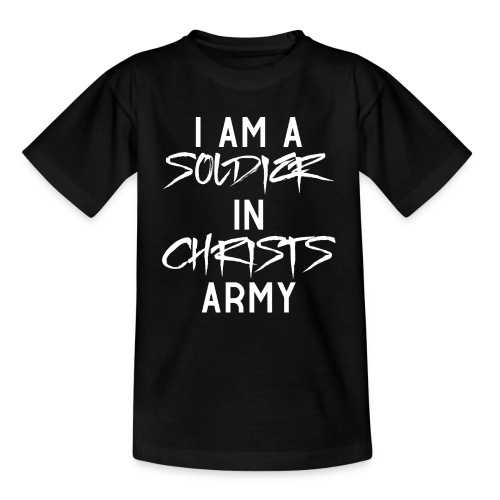 I am a soldier in Jesus Christs army - Kinder T-Shirt