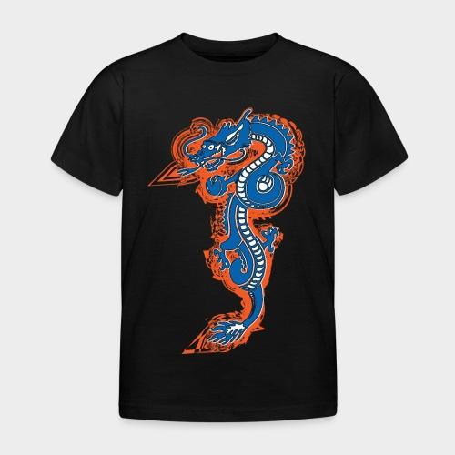 DRAGON AZUL Y NARANJA - Camiseta niño