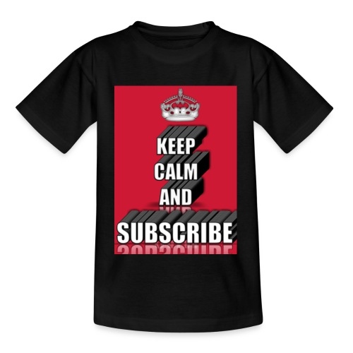 keep calm and subscribe logo - Kids' T-Shirt