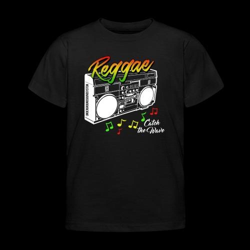 Reggae - Catch the Wave - Kinder T-Shirt