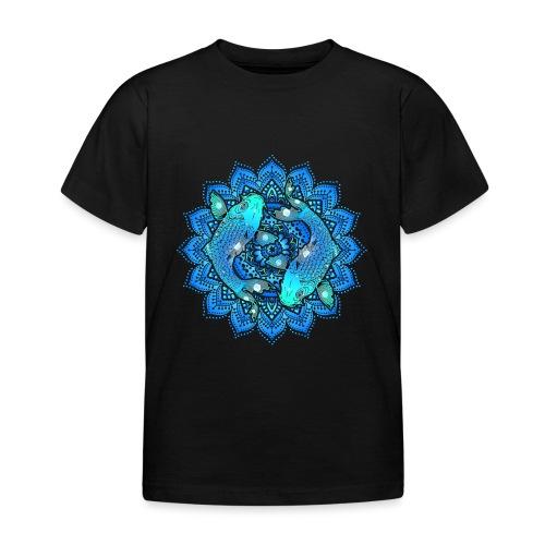 Asian Pond Carp - Koi Fish Mandala 1 - Kinder T-Shirt