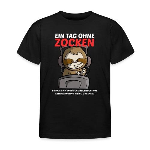 Ein Tag ohne Zocken Sloth - Kinder T-Shirt