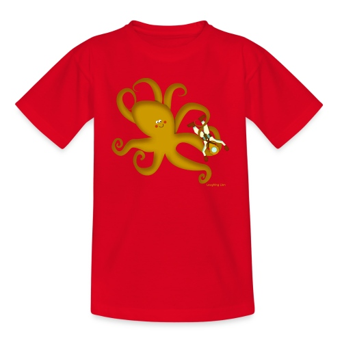 Giant Octopus Diver - Kids' T-Shirt