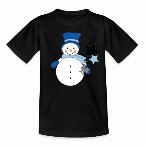Snowtime-Blue - Kinder T-Shirt