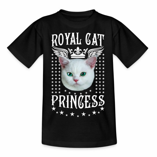 26 Royal Cat Princess white feine weiße Katze - Kinder T-Shirt