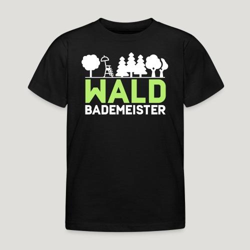 Waldbademeister für das Waldbaden im Waldbad - Kinder T-Shirt