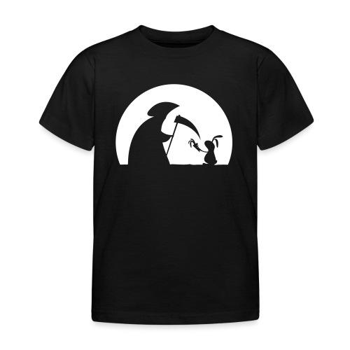 Hase Kaninchen Möhre Tod Sensenmann Karotte bunny - Kinder T-Shirt
