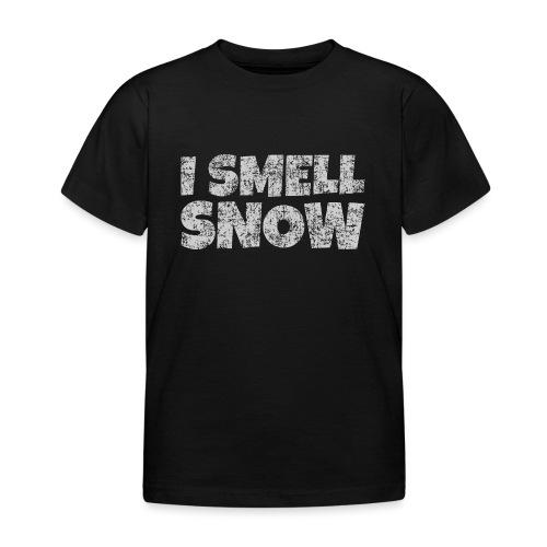 I Smell Snow (Grau) Schnee, Winter, Wintersport - Kinder T-Shirt