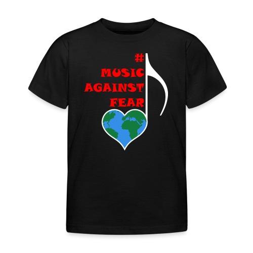 #MusicAgainstFear - Weiß - Kinder T-Shirt