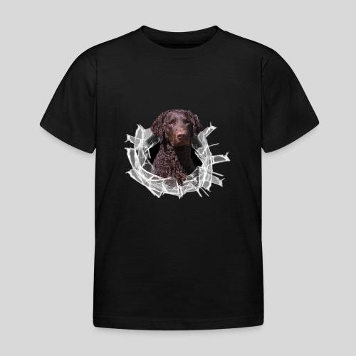 Curly Coated Liver im Glasloch - Kinder T-Shirt