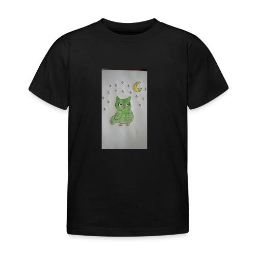 Grüne eule - Kinder T-Shirt