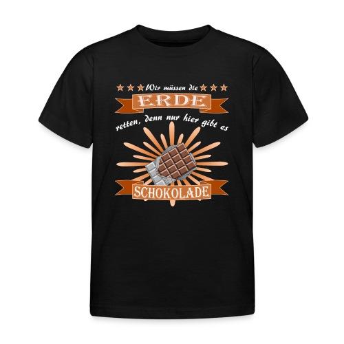 Schokolade der Retter - Kinder T-Shirt
