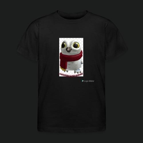 Merch white snow owl - Kinderen T-shirt